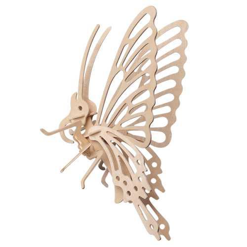 Woodcraft Dřevěné 3D puzzle malý motýl