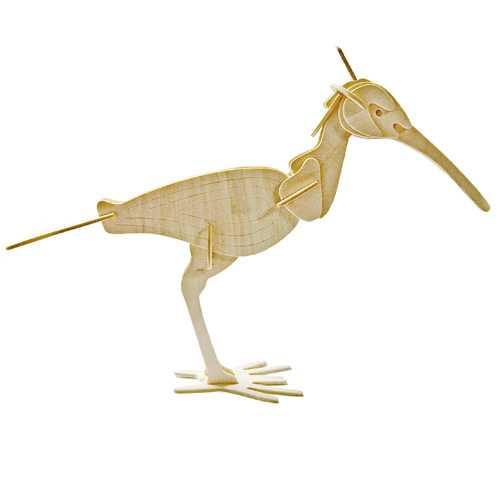 Woodcraft Dřevěné 3D puzzle pták kulik
