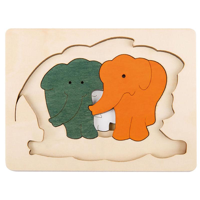 HAPE dřevěná vkládačka - Sloni