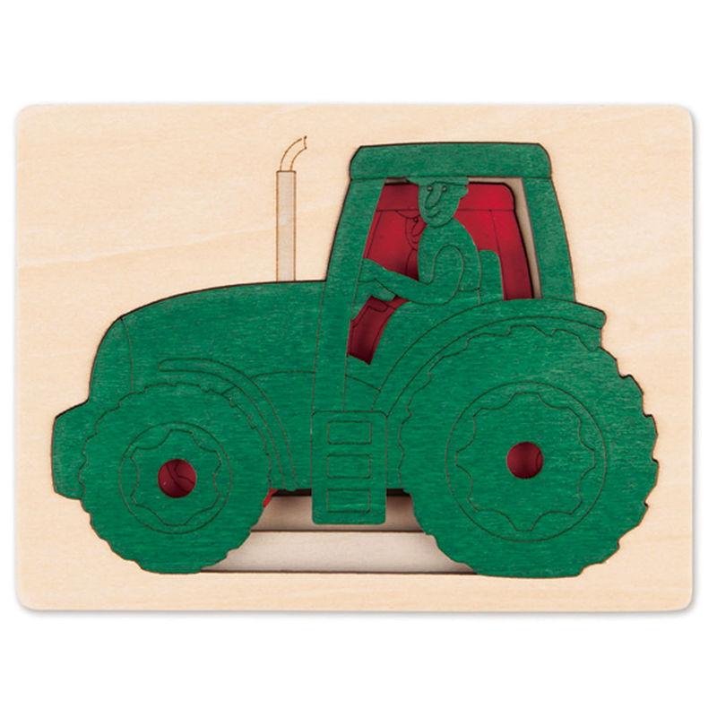 HAPE dřevěná vkládačka - Traktor