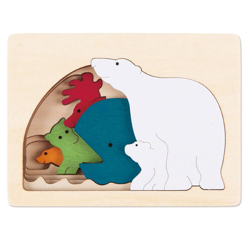 HAPE dřevěná vkládačka - Polární zvířata