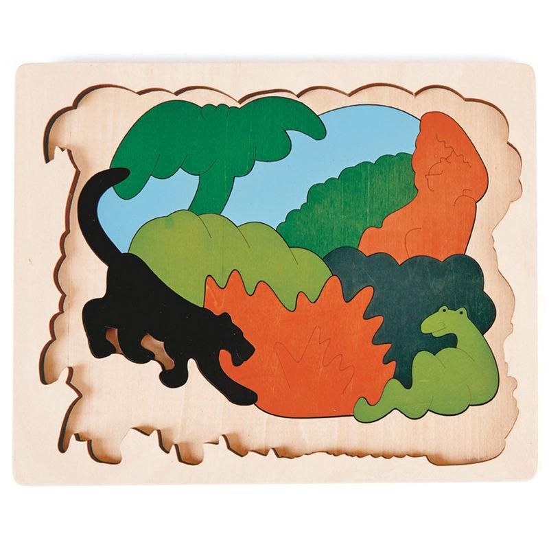 HAPE dřevěná vkládačka - Zvířátka z Asie