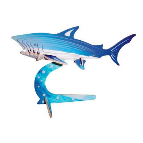 Woodcraft Dřevěné 3D puzzle zvířata malý žralok