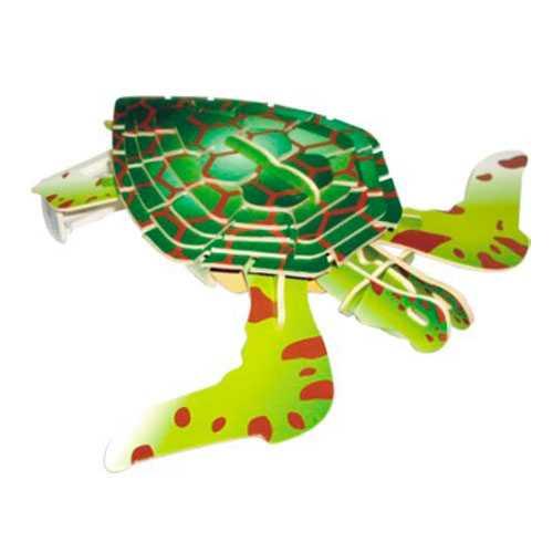 Woodcraft Dřevěné 3D puzzle želva