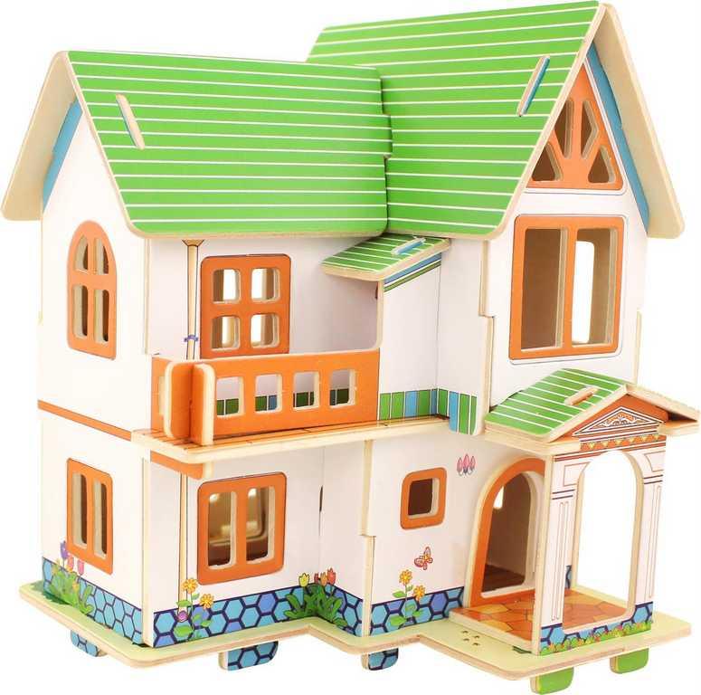 Dřevěné skládačky 3D puzzle - Katie domeček pro panenky