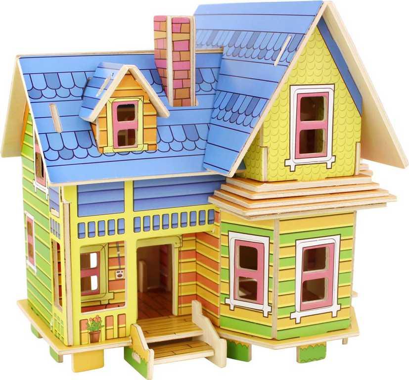 Dřevěné skládačky 3D puzzle -  Amelia domeček pro panenky