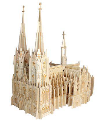 Woodcraft Dřevěné 3D puzzle katedrála Colonia