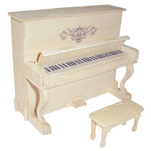 Woodcraft Dřevěné 3D puzzle piáno klavír