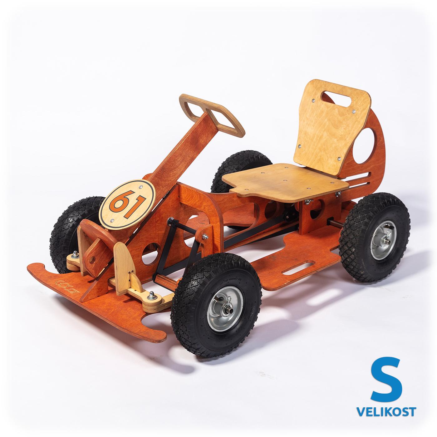GOCar šlapací auto malé, oranžové