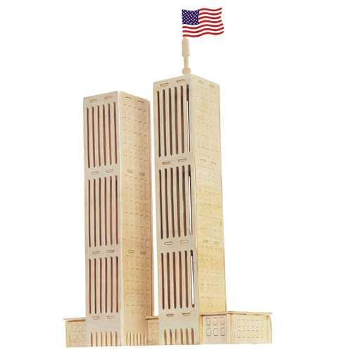 Woodcraft Dřevěné 3D puzzle dvojčata