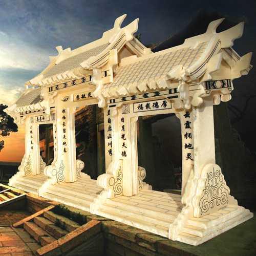 Woodcraft Dřevěné 3D puzzle slavné budovy Čínská brána