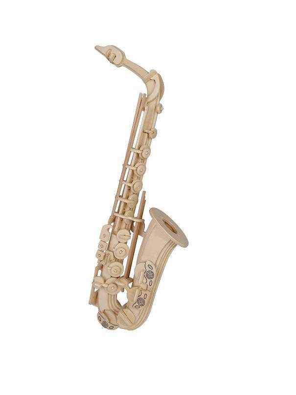 Woodcraft Dřevěné 3D puzzle saxofón