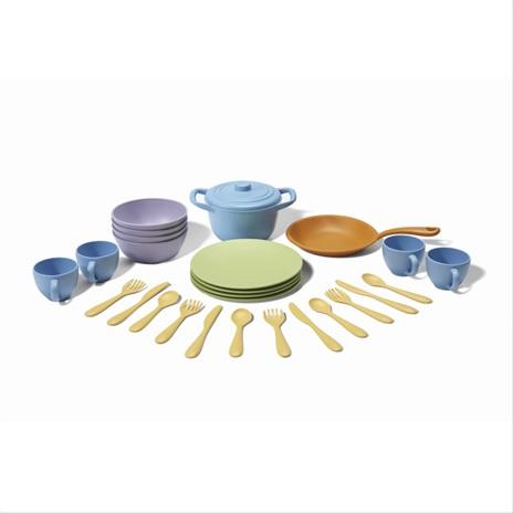 Green Toys Jídlelní set s nádobím