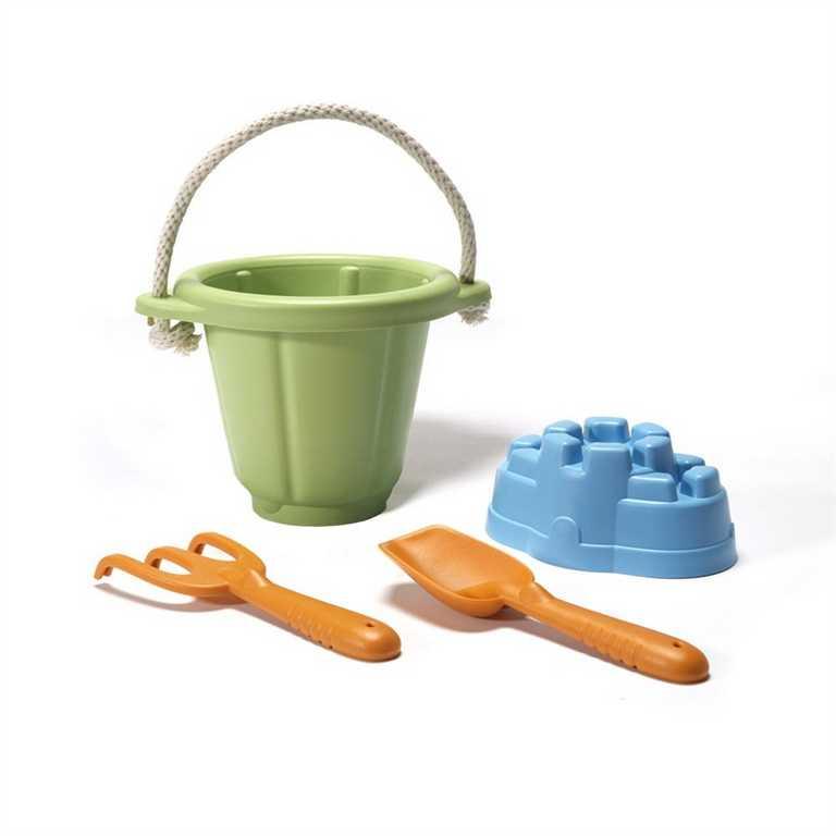 Green Toys Set na písek zelený