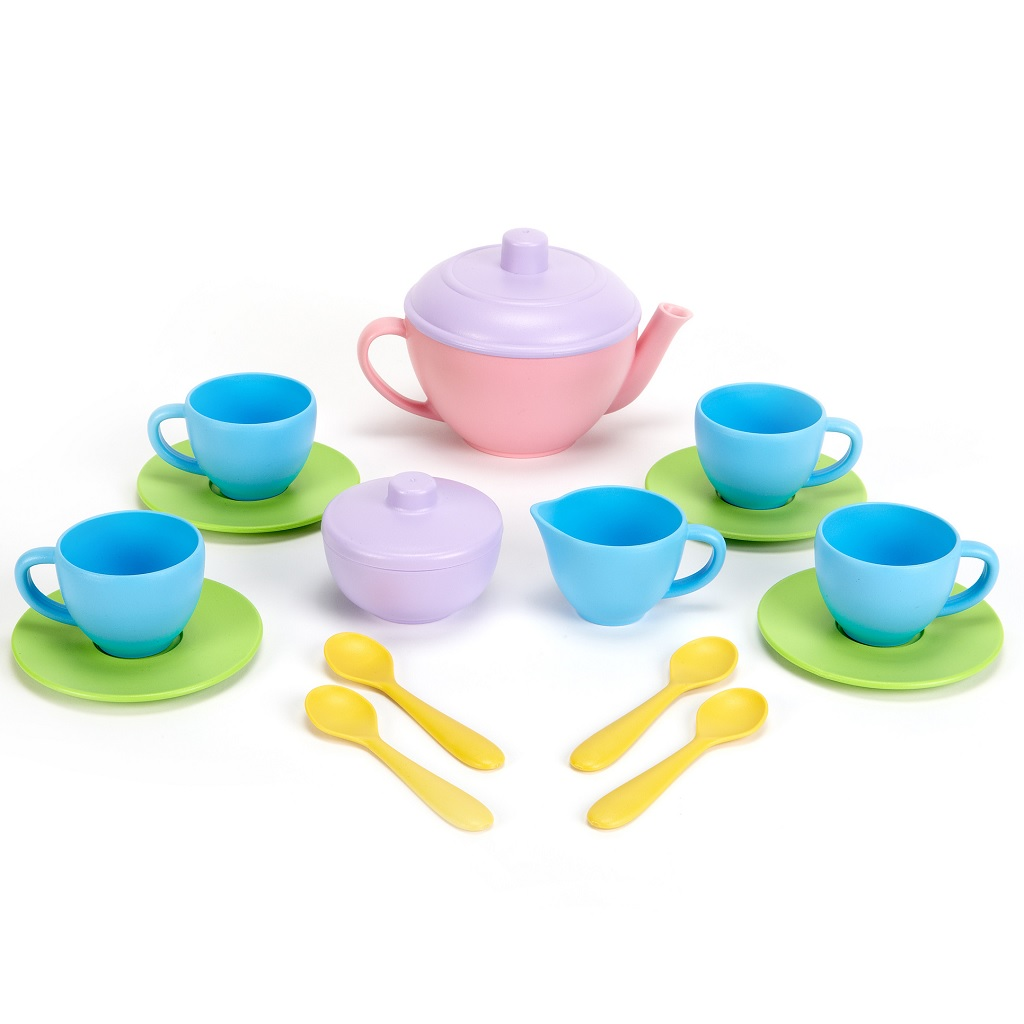 Green Toys Čajový set Pink 17 Ks