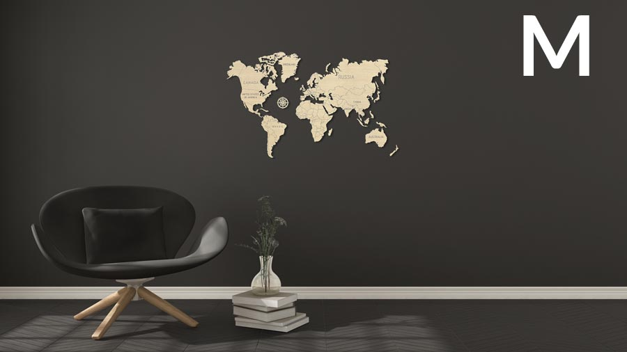 Wooden City 3D puzzle - Mapa světa