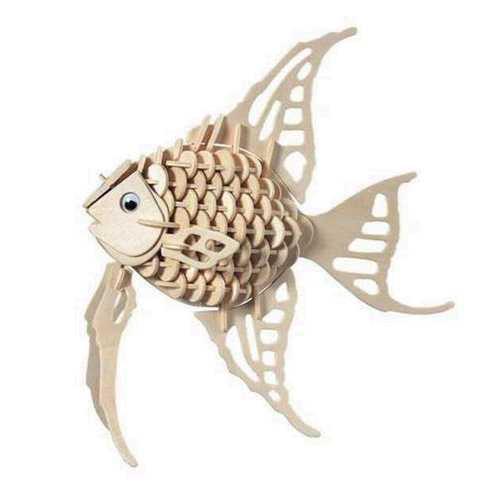 Woodcraft Dřevěné 3D puzzle zatá rybka
