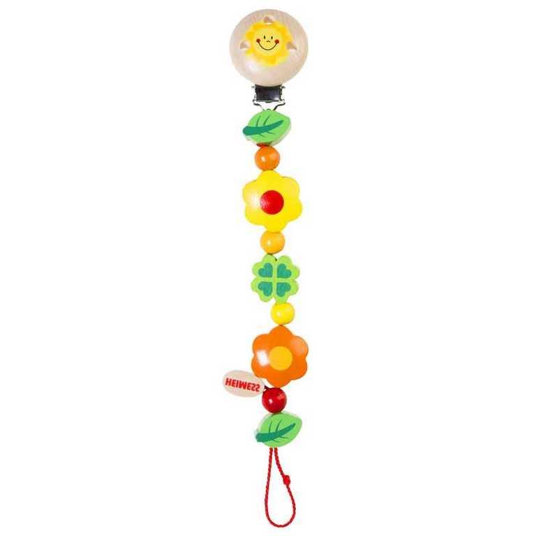 Heimess dřevěné hračky - Klips na dudlík - Květy a listy