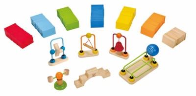 HAPE barevné domino rallye