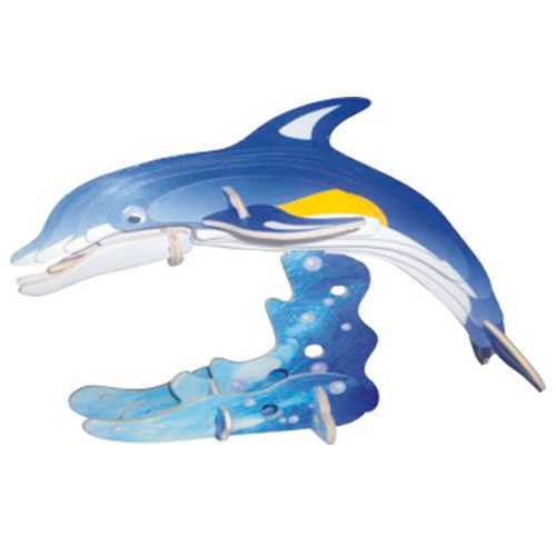 Woodcraft Dřevěné 3D puzzle delfín