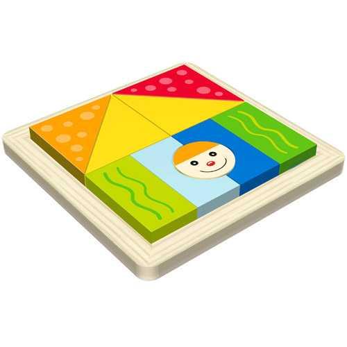 HJ Toys Dřevěné vkládací puzzle tvary