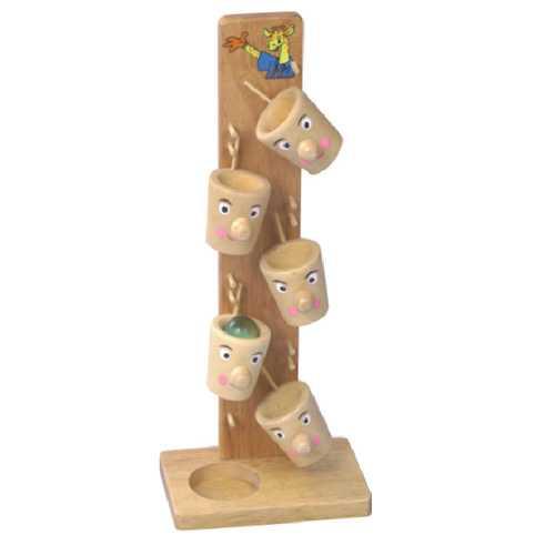 Dřevěné hračky - Dřevěné hry - Dřevěný tobogán hrnečky