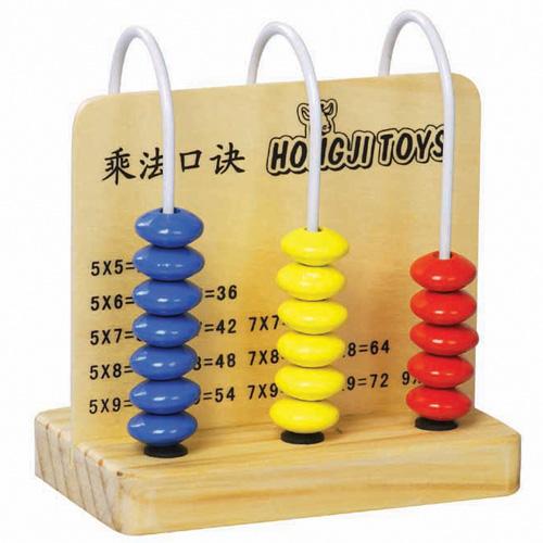 HJ Toys Dřevěné počítadlo násobilka