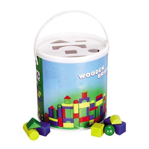 Dřevěné hračky - Dřevěné kostky 60ks