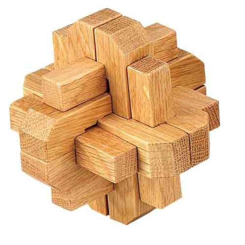 Dřevěné hry - Dřevěný hlavolam - Kostky