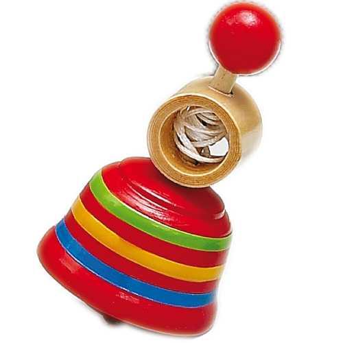 Dřevěné hračky - Dřevěné hry - Dřevěná káča červená