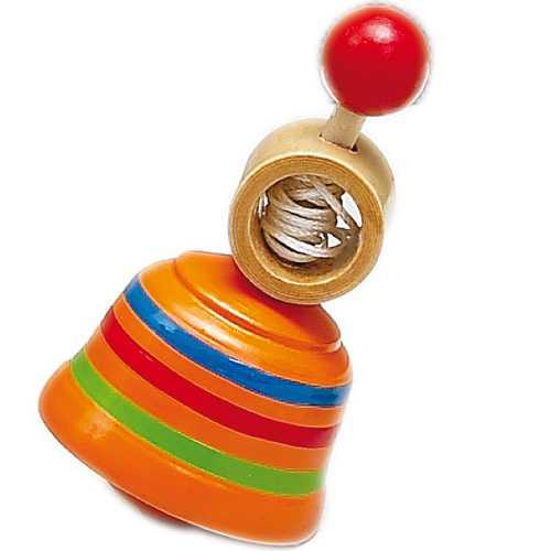 Dřevěné hračky - Dřevěné hry - Dřevěná káča oranžová