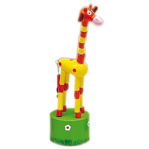 Dřevěné hračky - Dřevěné hry - Tancující žirafa žlutá
