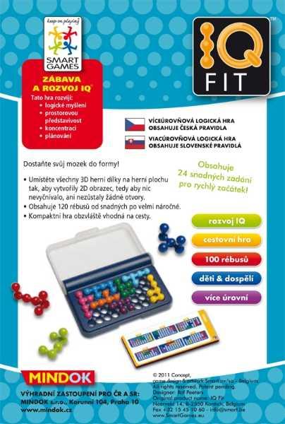 Dětské hlavolamové smart hry - IQ Fit