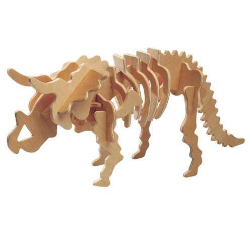 Woodcraft Dřevěné 3D puzzle Triceratops malý