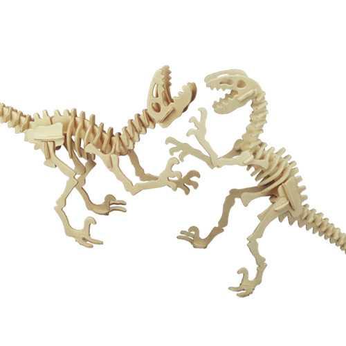 Woodcraft Dřevěné 3D puzzle Deinonychus  2v1