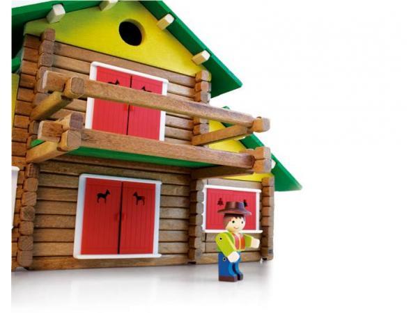 Jeujura Dřevěná stavebnice 240 dílů