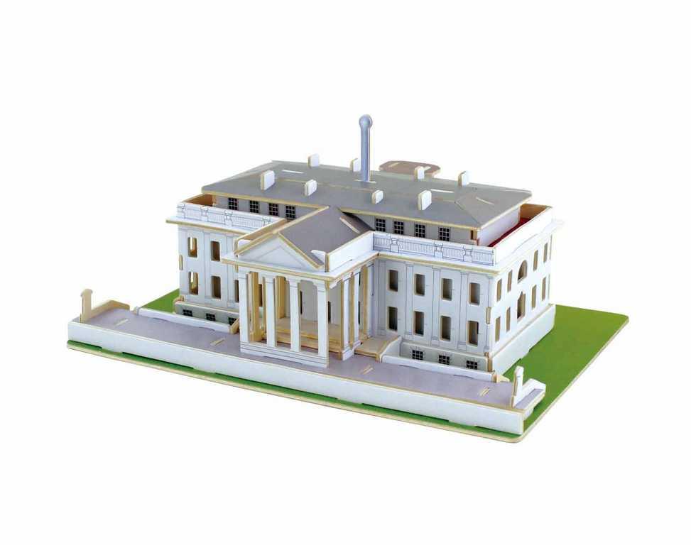 RoboTime Dřevěné skládačky 3D puzzle Bílý dům