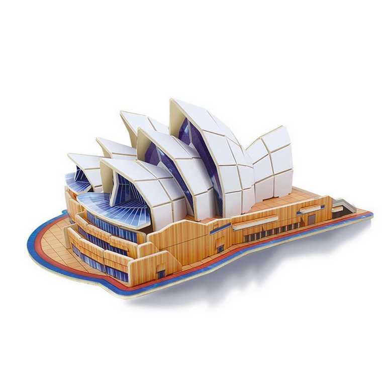 Dřevěné skládačky 3D puzzle - Sydney Opera