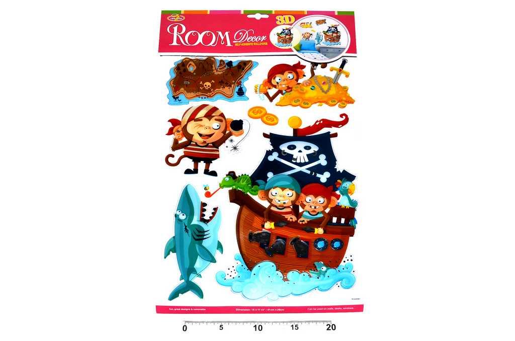 Dekorace nálepky na zeď Piráti