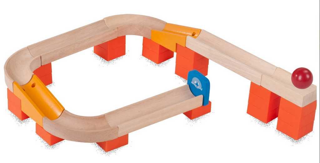 Wonderworld Dřevěná kuličková dráha TRIX - Kulička na dráze