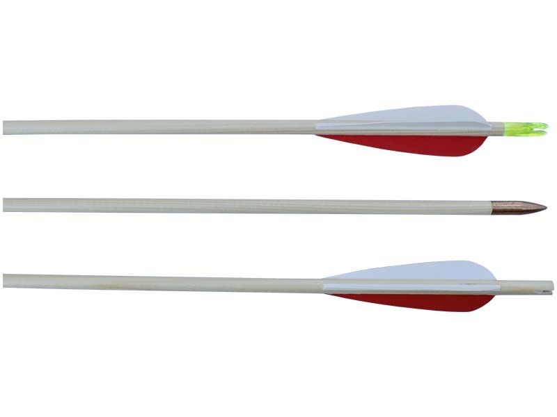 Šíp dřevěný STANDART 8/760 mm s plastovými křidélky