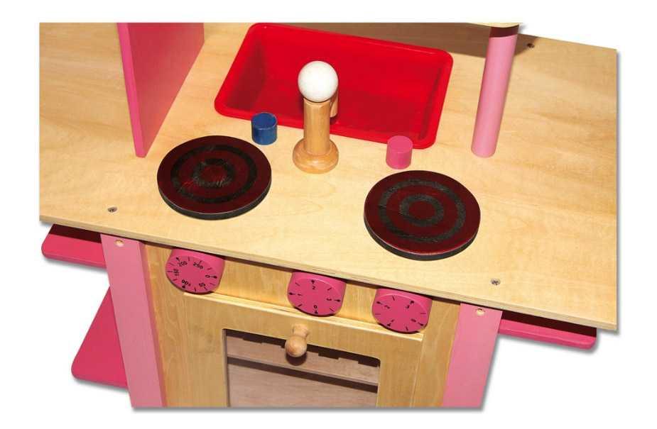 Small Foot Dětská dřevěná kuchyňka vše v jednom růžová