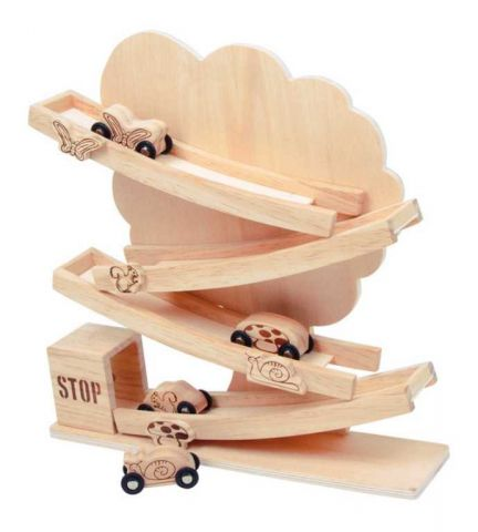 Dřevěné hračky - Dřevěný tobogán strom přírodní