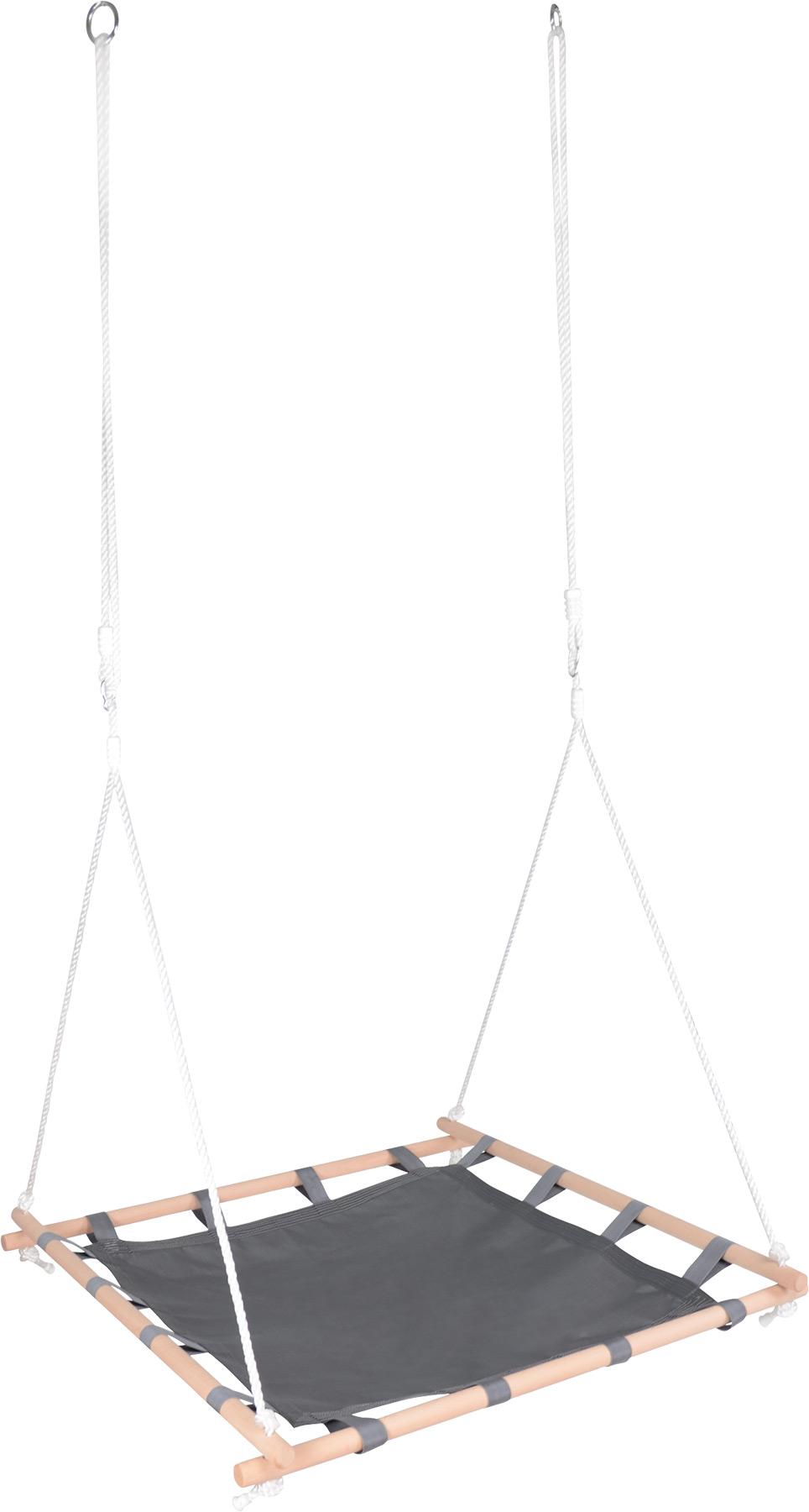 Small Foot Houpačka v dřevěném čtvercovém rámu