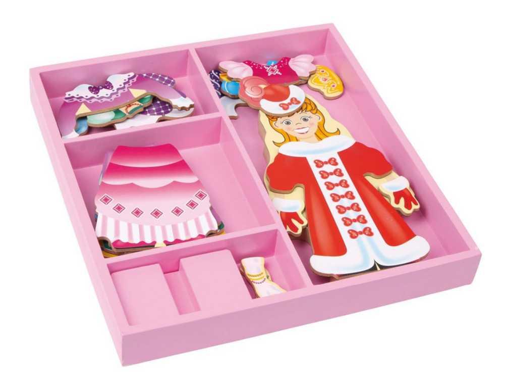 Dřevěné hračky - Oblékací box princezna