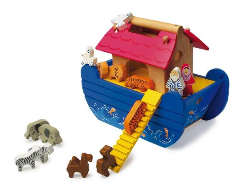 Small Foot Dřevěná Noemova archa modrá