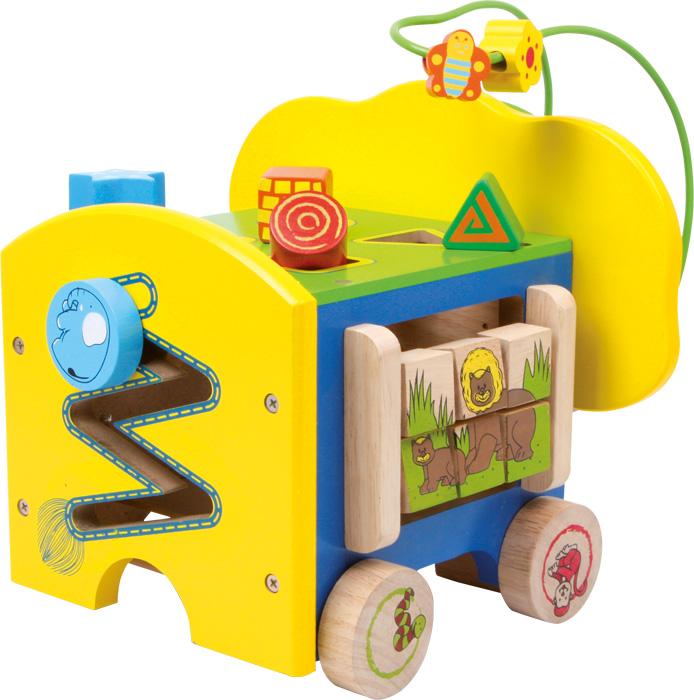 Dřevěné hračky - Motorické hračky - Aktivní motorický slon
