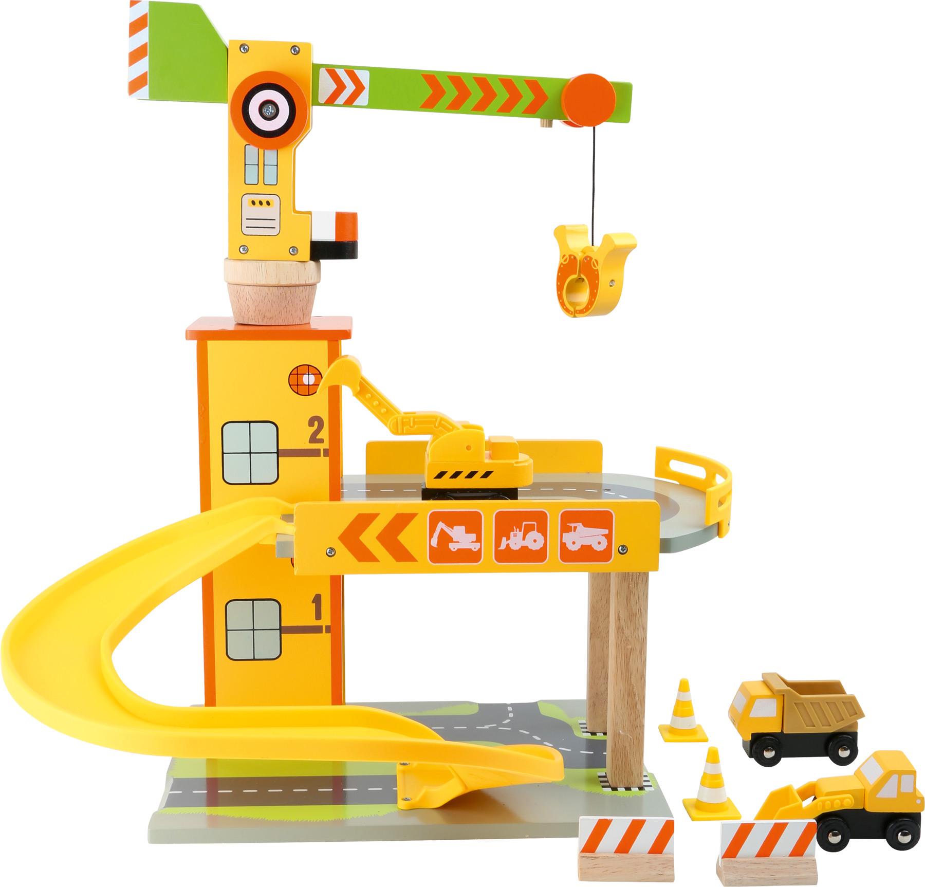 Small Foot Dětská dřevěná parkovací garáž stavba sleva