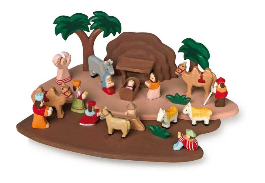 Small Foot Dětský dřevěný betlém s figurkami