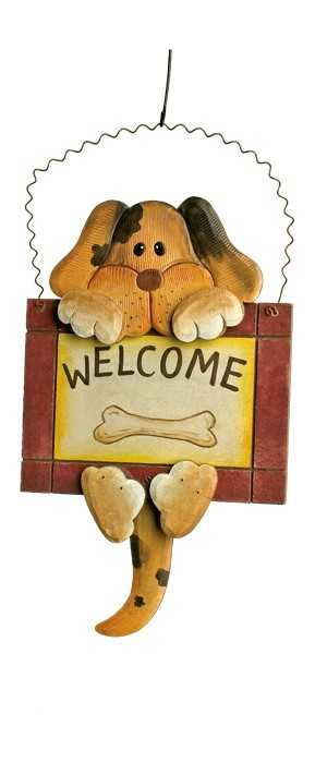Small foot Keramická dekorace - dekorativní vývěska Welcome - pes